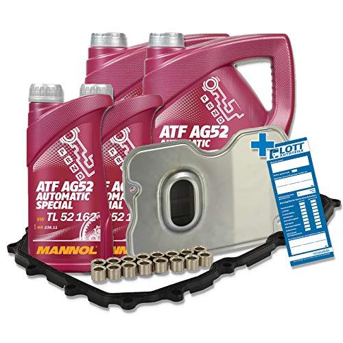 Service Set Hydraulikfilter Filter + 6 Liter Mannol Getriebeöl für Automatikgetriebe Ölwechsel