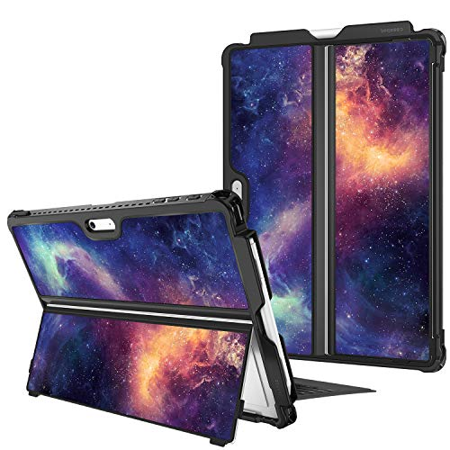 Fintie Hard Case for Microsoft Surface Pro 7/ Pro 6/ Pro 5/ Pro LTE, Shockproof Folio Protective Rugged Cover Compatible with Type Cover Keyboard + Original Kickstand (Galaxy)