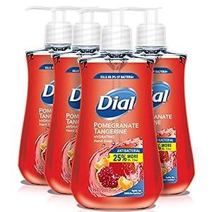 Dial Antibacterial Liquid Hand Soap, Pomegranate & Tangerine, 9.375 Oz (Count Of 4)