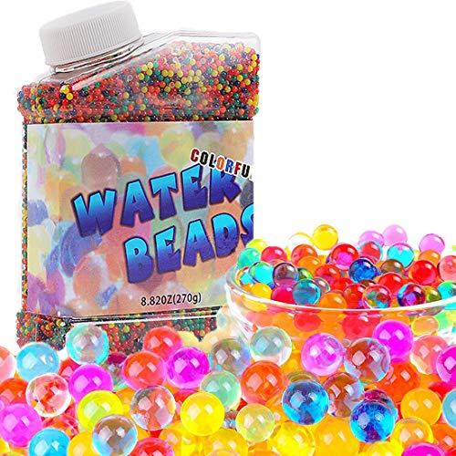 ONET Bolas de Gel de Agua, 50 000pcs Bolas de Gel, Perlas de Agua para Decoración, Hidrogel Bolas para decoración del Florero Plantas Flores