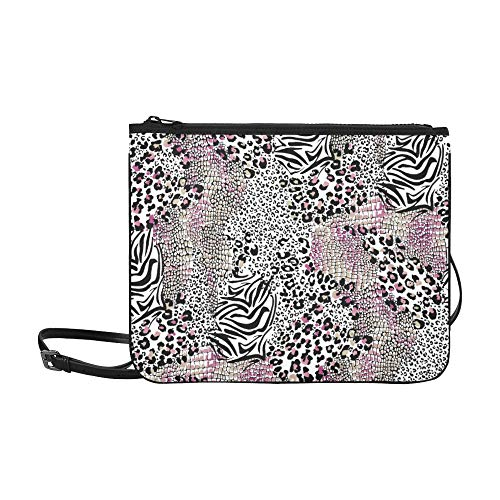 WYYWCY Rosa Leopard Sexy Textur von jungen Leuten geliebt Muster benutzerdefinierte hochwertige Nylon dünne Clutch-Tasche Umhängetasche Umhängetasche
