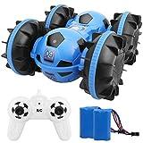 Ferngesteuertes Auto 360 Cross, 4WD RC Car 2.4 Ghz Technologie Wasserdicht RC Stuntauto Rennauto ferngesteuert Spielzeug Stunt Autos für Kinder Jungen Mädchen Outdoor Indoor 6-18 Jahre (Blue)