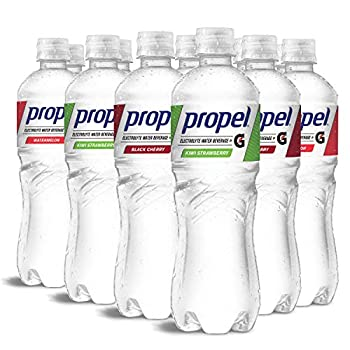 Propel 3 Flavor Variety Pack Zero Calorie Water Beverage with Electrolytes & Vitamins C&E 24 Fl Oz  Pack of 12