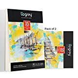 UPGREY Watercolor Paper Pads 70 Sheets Total Painting Paper 11'x14' Sketch Pads Drawing Paper Acid Free Sketchbook Watercolor Journal Cold-Pressed Double Sided Wet & Dry Media (140lb/300gsm) Pack of 2