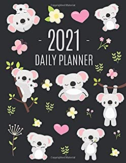 Cute Grey Koala Planner 2021: Cute Year Organizer: For an Easy Overview of All Your Appointments! | Large Funny Australian...