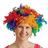 US Toy One Feather Wigs Costume, Multicolor
