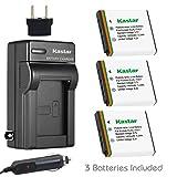 Kastar Battery (3-Pack) and Charger Kit for Kodak KLIC-7001 and Kodak EasyShare M320, M340, M341, M753 Zoom, M763, M853 Zoom, M863, M893 is, M1063, M1073 is, V550, V570, V610, V705, V750 Cameras