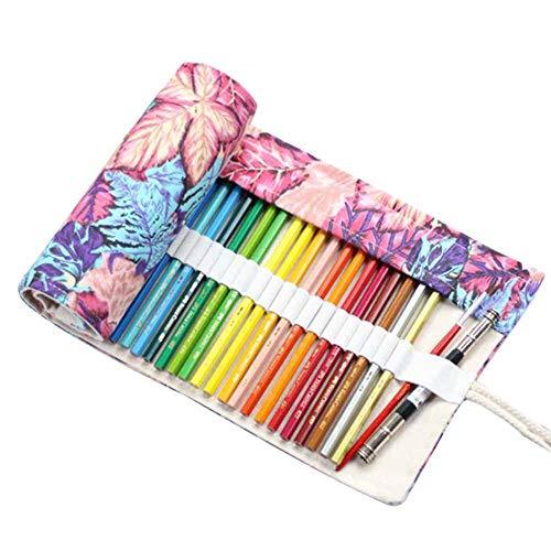 Astuccio arrotolabile in tela per cosmetici, pennelli da trucco, custodia per matita,...