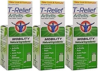 T-Relief Arthritis Tablets, 100 Tablets (300 Tablets)