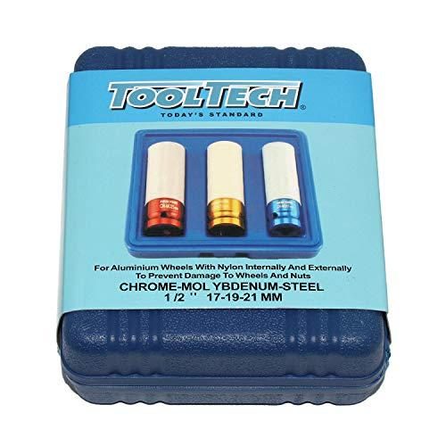 ToolTech 3 Stück Kraft-Schoneinsätze, Schlagschrauber Schonnüsse Bild