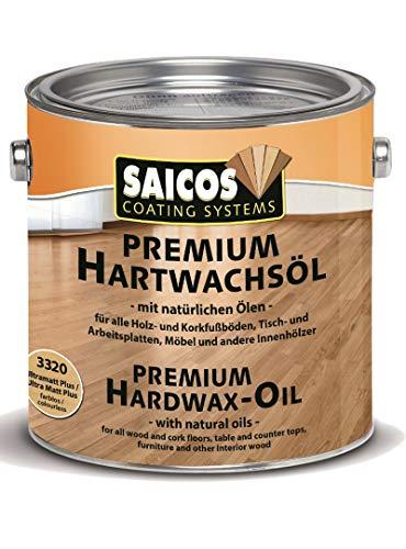 SAICOS Premium Hartwachsöl 3320 Ultramatt Plus farblos, 2,50 Liter