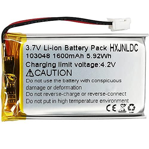 DC 3,7v 1600mah 103048 sustitución de baterías de polímero de Iones de Litio para DIY Bluetooth Box 18650 Storage LED Lamp Fan Handheld Gift