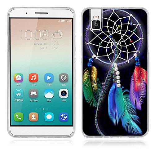 FUBAODA für Huawei Honor 7i Hülle, [Traumfänger] Künstlerische Malerei-Reihe TPU Case Schutzhülle Silikon Case für Huawei Honor 7i (Shot X)