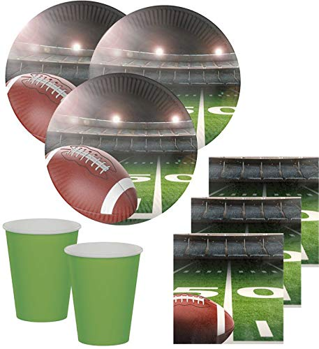 48 Teile American Football Superbowl Party Deko Set 16 Personen