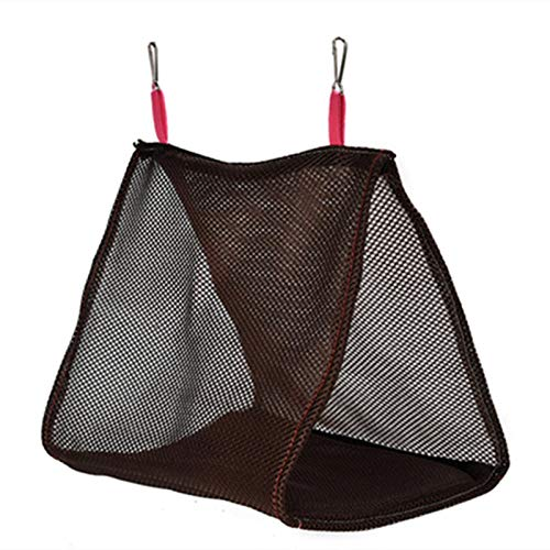 YITON Bird Cage Chocolate Soft Mesh Bird Cage Parrot Hammock Breathable Hanging Bed Cage Pet Supplies Swing Tent Nest House 2Pcs S