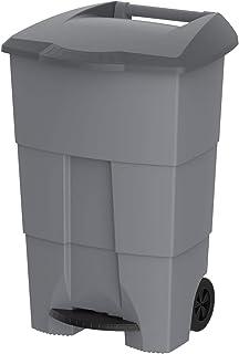 Cosmoplast 125 Liter Step-On Waste Bin - Grey