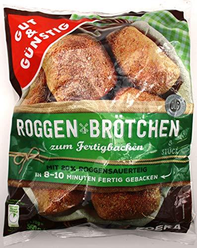 Gut und Günstig Roggenbrötchen, 12er Pack (12 x 560g)