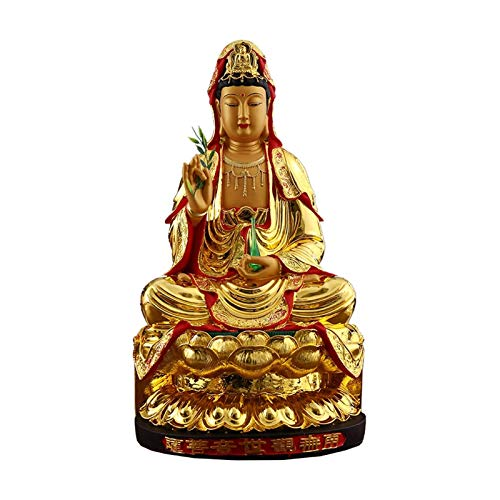 Buddha Statute Home Decor Resin Guan Yin Statue Home Decor Best Chinese Chinese Style Gifts Attractive & Serene Buddha Statue Ornaments Indoor Statue Collectible Figurines Buddha Decoration