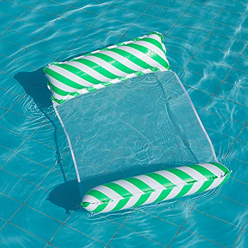 GAOYUAN Hamaca de Agua Flotante para Piscina Cama de Aire Inflable para Adultos Silla de Salón Deportiva con Bomba de Aire para Piscina