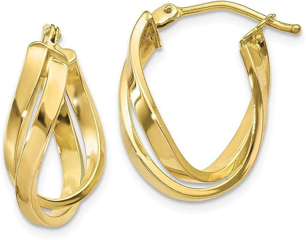 Jewelry-10k Twisted Hoop Earrings