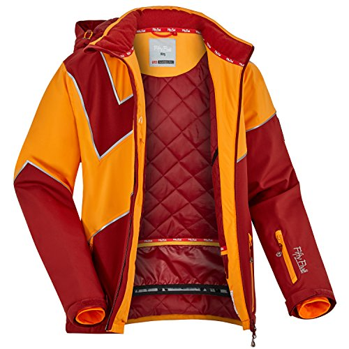 Fifty Five Extrem Skijacke für Herren Saint Andrews Rot Orange 3XL Warme Snowboard Jacke Winterjacke