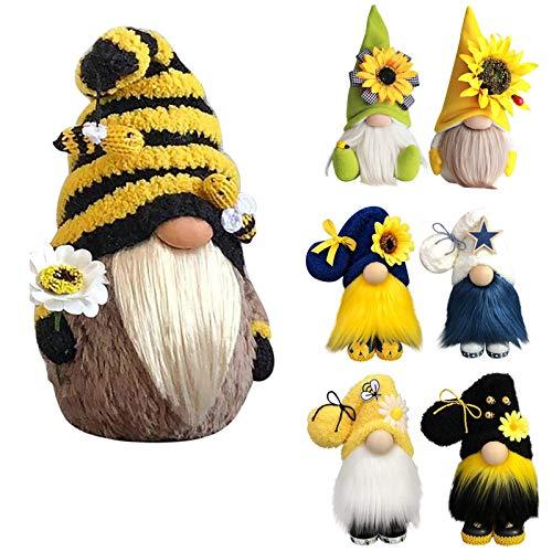 Hummel Sonnenblume gesichtslos Gnom Plüsch Gestrickt Land Gnom Puppe Home Handmade Plüscher Zwerg Ornamente Dekoration
