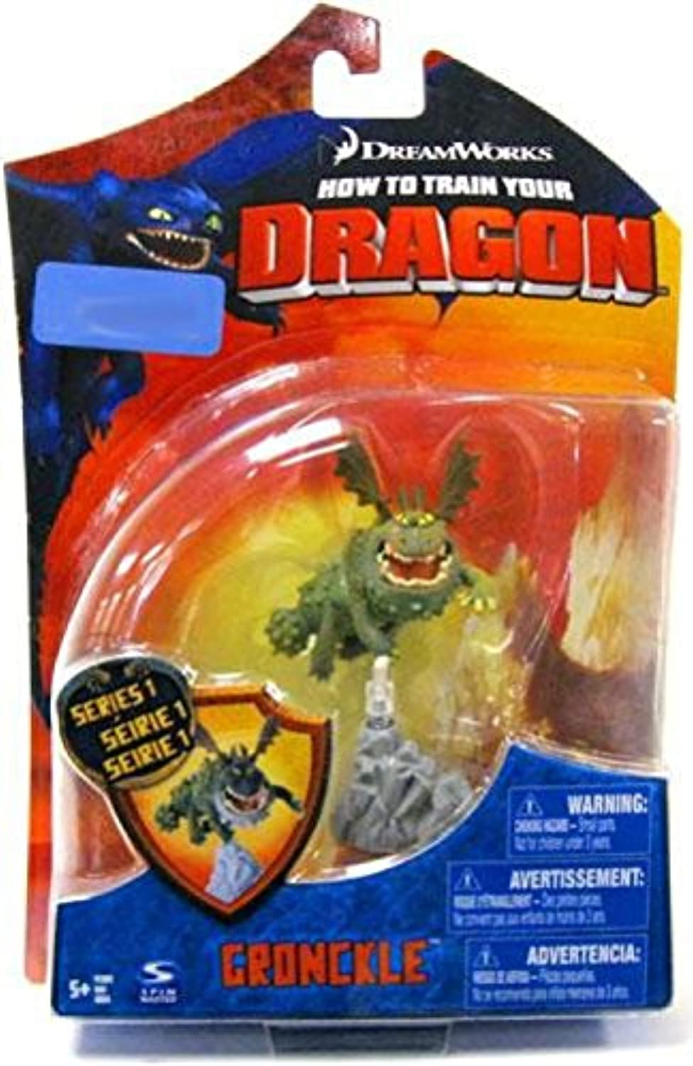Dreamworks Movie Series  How To Train Your Dragon  Exclusive 4 Inch Tall Figure - Gronckle With Rock Shaped Display Base