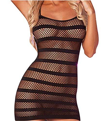 Sexy Donna Hot per Sesso Aperto Netto Pigiama Babydoll Fionda Abito Vestito da Notte Uniforme Prospettiva Biancheria Intima Nightwear Bodysuit Erotico Partito Clubwear Calzamaglia