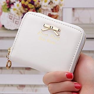 Kingken Charm courte Section simili cuir Porte-monnaie Porte-cartes Mini portefeuille pour femme