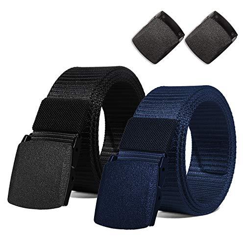 ITIEZY Cintura Militari Tattiche Fibbia Plastica Uomo Nero Blu Casuale Moda