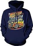 NOFO Clothing Co Hot Rod Diner Hooded Sweatshirt, XL Navy