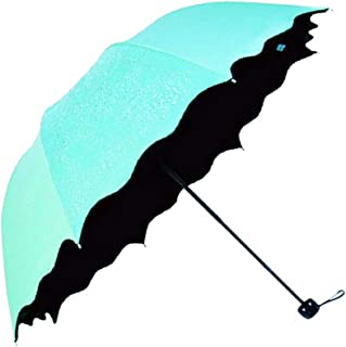 Honeystore Blossom Magic Compact Umbrella Triple Folding Anti-uv Dome Parasol Aqua