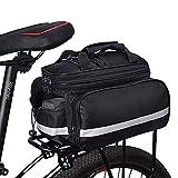 DASIAUTOEM Bolsa para bicicleta 3 en 1 multifunción bolsa para el portaequipajes trasero bolsa resistente a los desgarros bolsa de alta capacidad bolsa para bicicleta con correa para el hombro