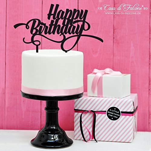 Geburtstag Cake topper Happy Birthday | Acryl oder Holz, 3mm stark | 20x10 cm | verschiedene Farben