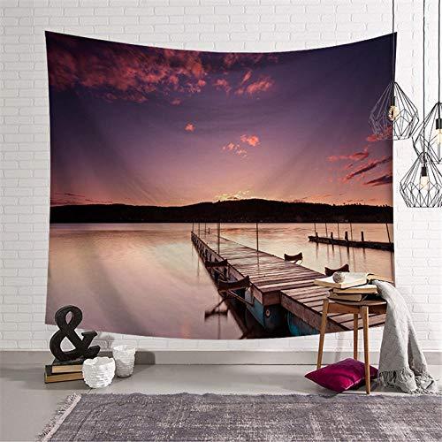 Aan de muur bevestigde zeeegel-druktapijt extra lang 150 x 200 cm Boho-slaapkussen-kamperende matten-speelruimte en tapijt.