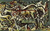 Jackson Pollock ジクレープリント キャンバス 印刷 複製画 絵画 ポスター (彼女の狼)