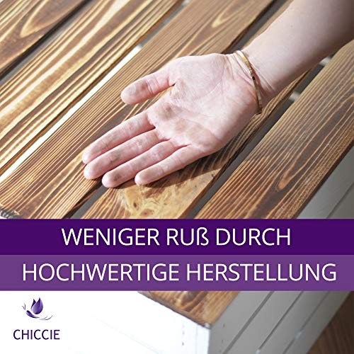 CHICCIE 3 Set Holzkiste Grete Weiß Geflammt - 2X Kurzes Regal Obstkiste Dekokiste Weinkiste Ablage 50x40x30cm Gehobelt - 2