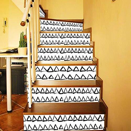 Pegatinas de la escalera de la pared de la baldosa Auto adhesivo impermeable PVC Etiqueta engomada de la pared Cocina Pegatinas de cerámica Decoración del hogar 2020 New Plant Tree ( Color : White )