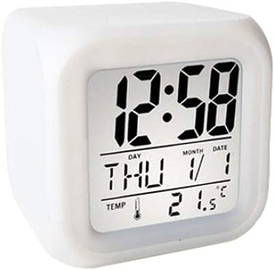 Despertador/Pantalla LED Dormitorio De Estudiante Reloj Despertador Electrónico Mini Mudo Reloj Digital Perezoso Creativo