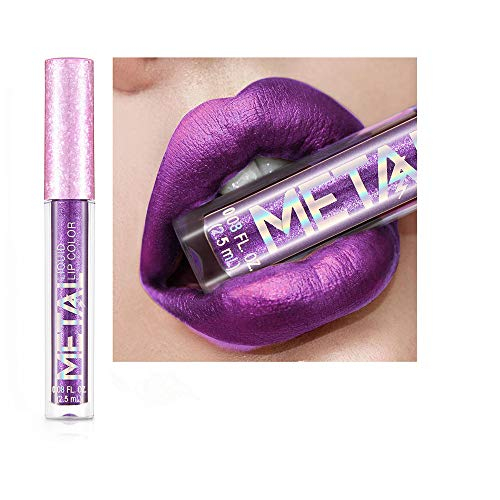 Yazidan Glitter-wasserdichter Lippenstift, Lipgloss, Matte Liquid Lipstick, Lippe Gloss, wasserdicht...