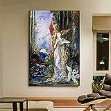 KWzEQ Hermosa Pintura Religiosa Papel Pintado Arte de la Pared Lienzo Pintura al óleo Cartel Pintura Moderna decoración del hogar,Pintura sin Marco,30x45cm