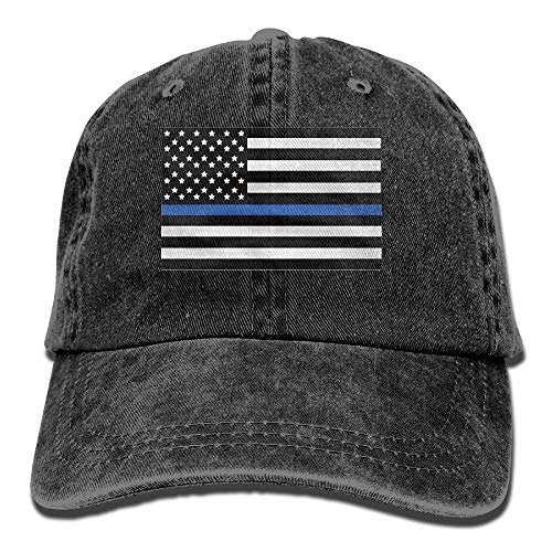 Mabell Infant Support The Police Thin Blue Line American Flag Cute Baby Onesie Bodysuit Snapback Cotton Cap