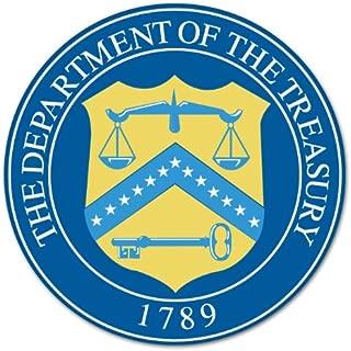 Department of Treasury seal car bumper sticker 4