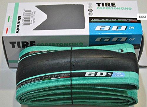 Bianchi - Faltreifen Bianchi Reparto Corse 2020, 700 x 28, 60 TPI schwarz mit hellblauer Schulter C4901422