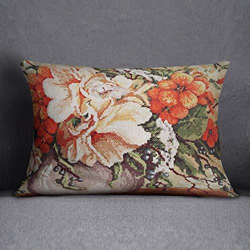 Bonamaison Funda de cojín, Cotton, Multicolor, 35x50