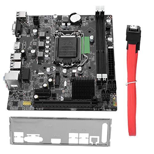 Tangxi Placa Base de Computadora Escritorio,Placa Madre DDR3 para Intel B75,LGA 1155,DDR3 1066/1333/1600/1866MHz,Audio 6 Canales,Interfaz PCI-E X16/USB 3.0/SATA 3.0/RJ45/HDMI/VGA,Soporta CPU I3 I5 I7