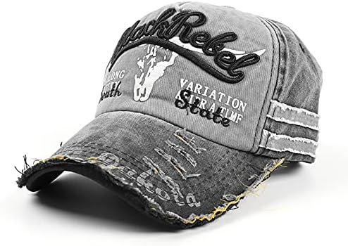 Ninestar Premium Distressed Vintage Baseball Cap, Men's Women's-Adjustable Patch Trucker Dad Hat, Retro Embroidery Sports Cap