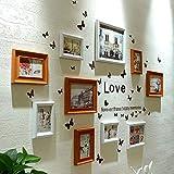 KINGXX-03 Marcos de Fotos Marcos de Fotos Set 10 Piezas Escalera de Pintura Decorativa Imagen de Pared de Madera Combinación de Bricolaje
