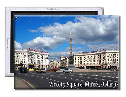 GoPukka Minsk Wit-Rusland Overwinningsplein - Souvenir Koelkast Magneet