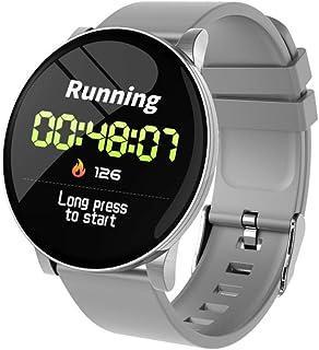 Wiouy W8 - Pulsera inteligente IP67, impermeable, monitor de actividad física, monitor de presión arterial, frecuencia cardíaca, color gris plateado
